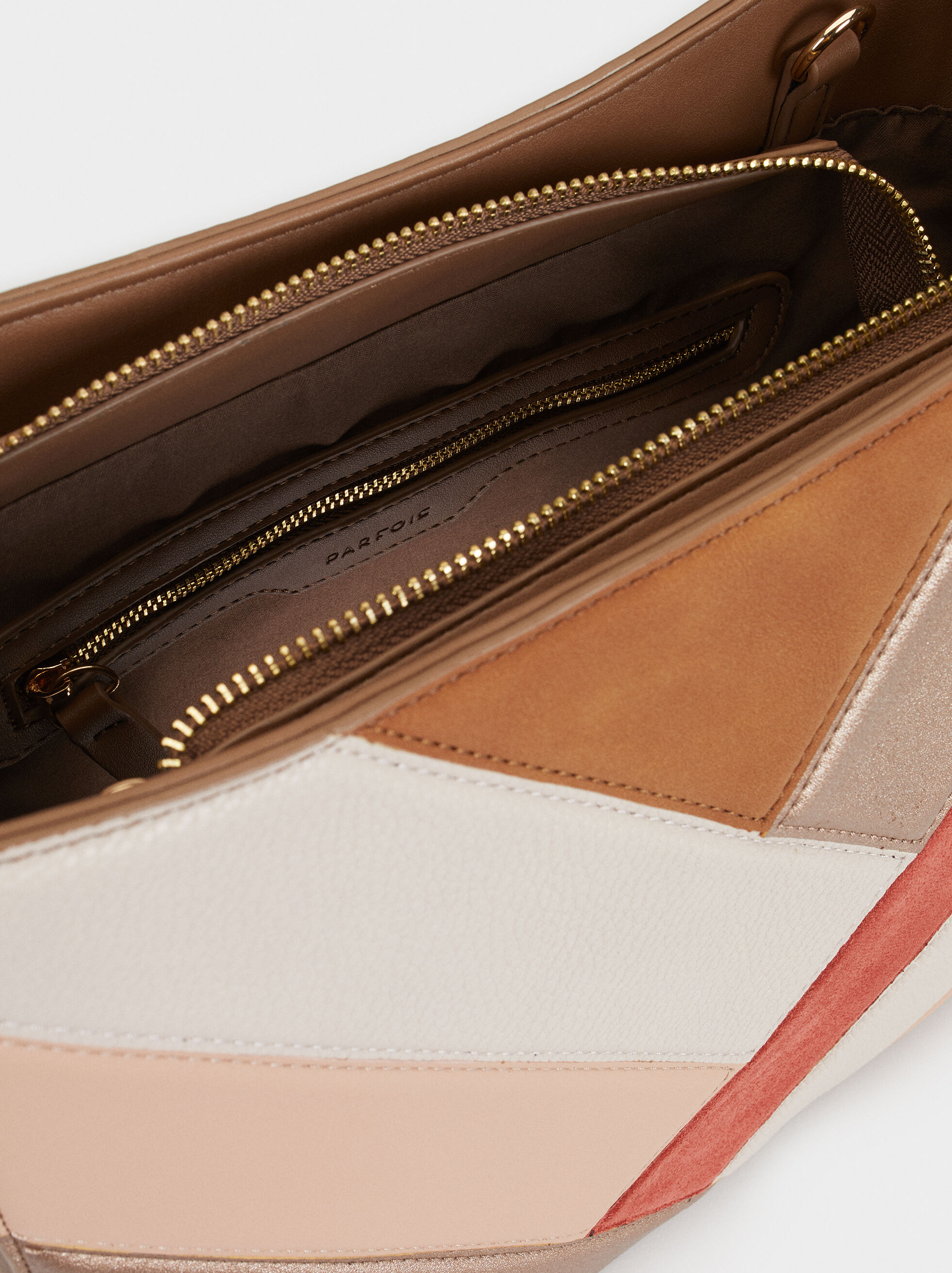 Patchwork Handbag, Pink, hi-res