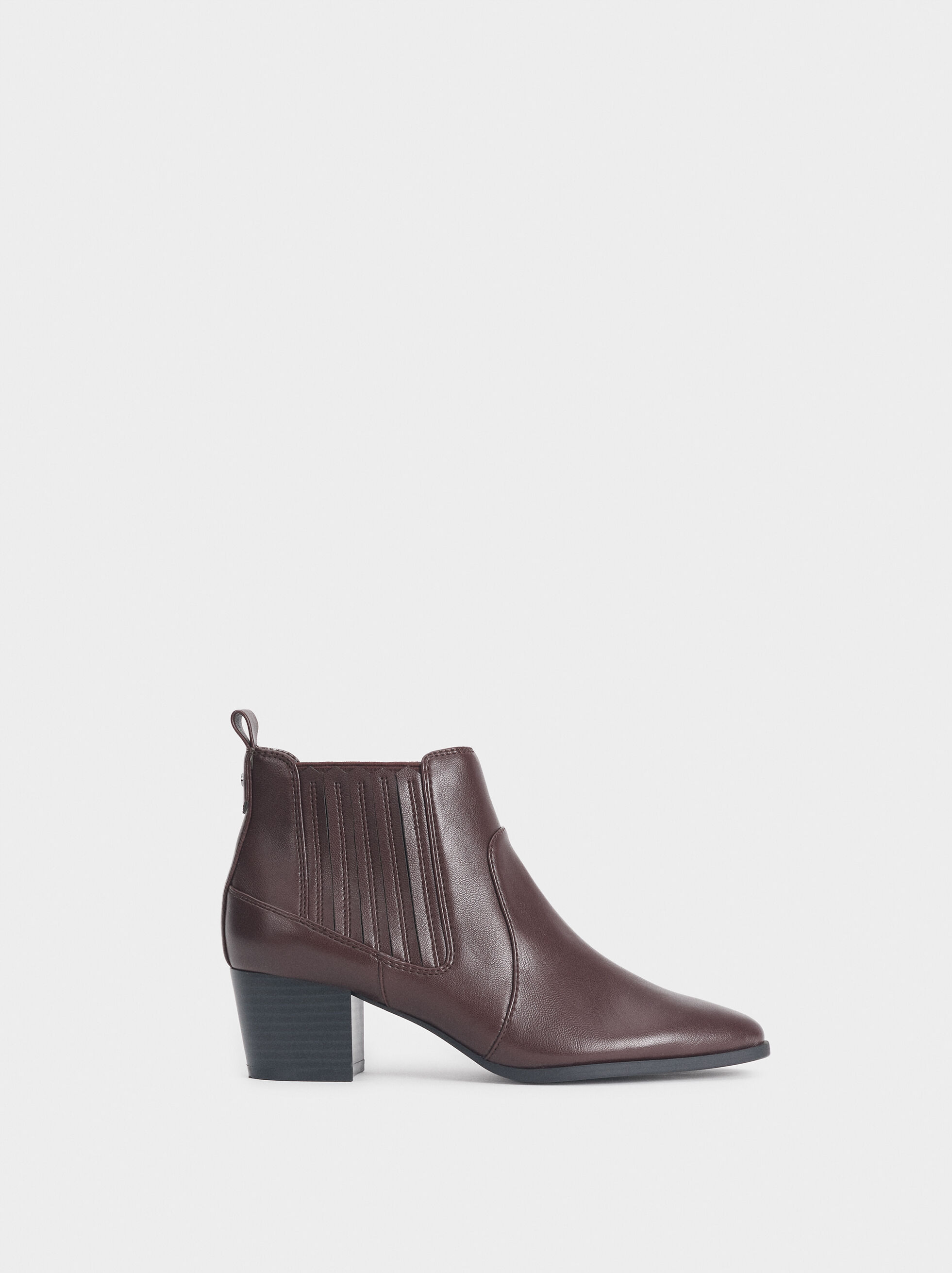Ankle Boots With Stretch Detail, , hi-res