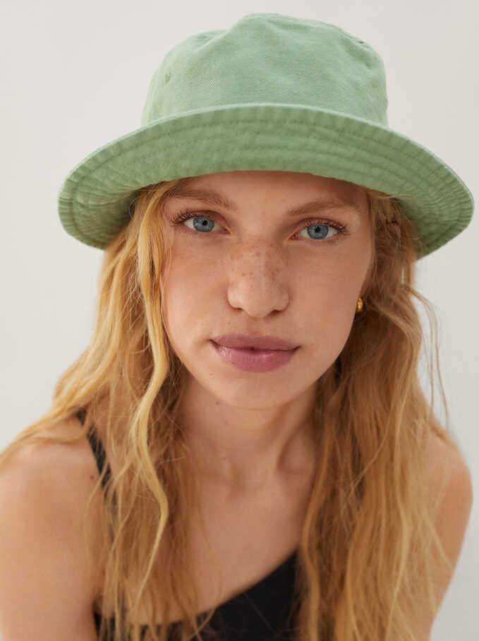Cotton Bucket Hat, Green, hi-res