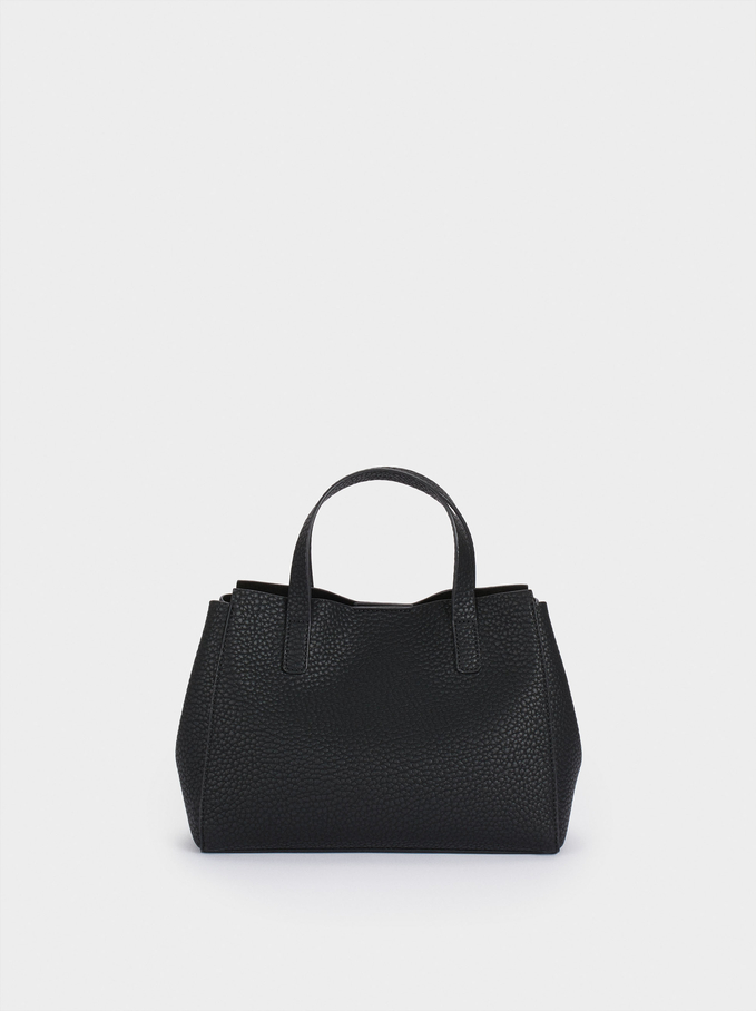 Tote Bag With Removable Interior, Black, hi-res