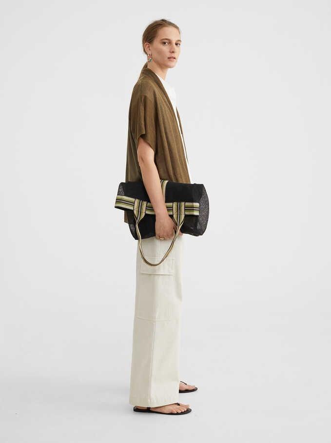 Kimono De Punto Combinado, Caqui, hi-res