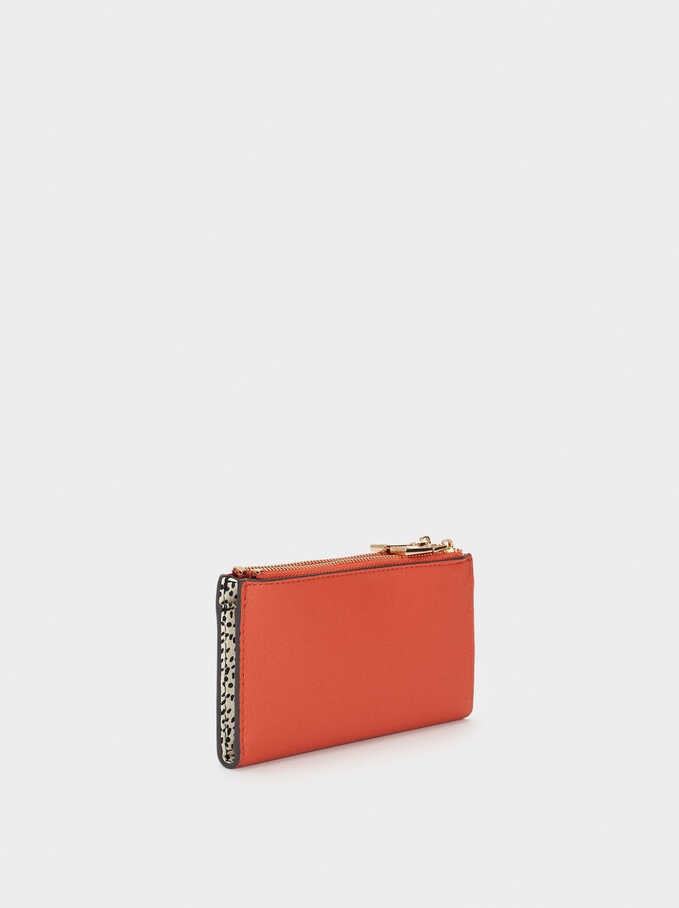 Plain Long Wallet, Orange, hi-res