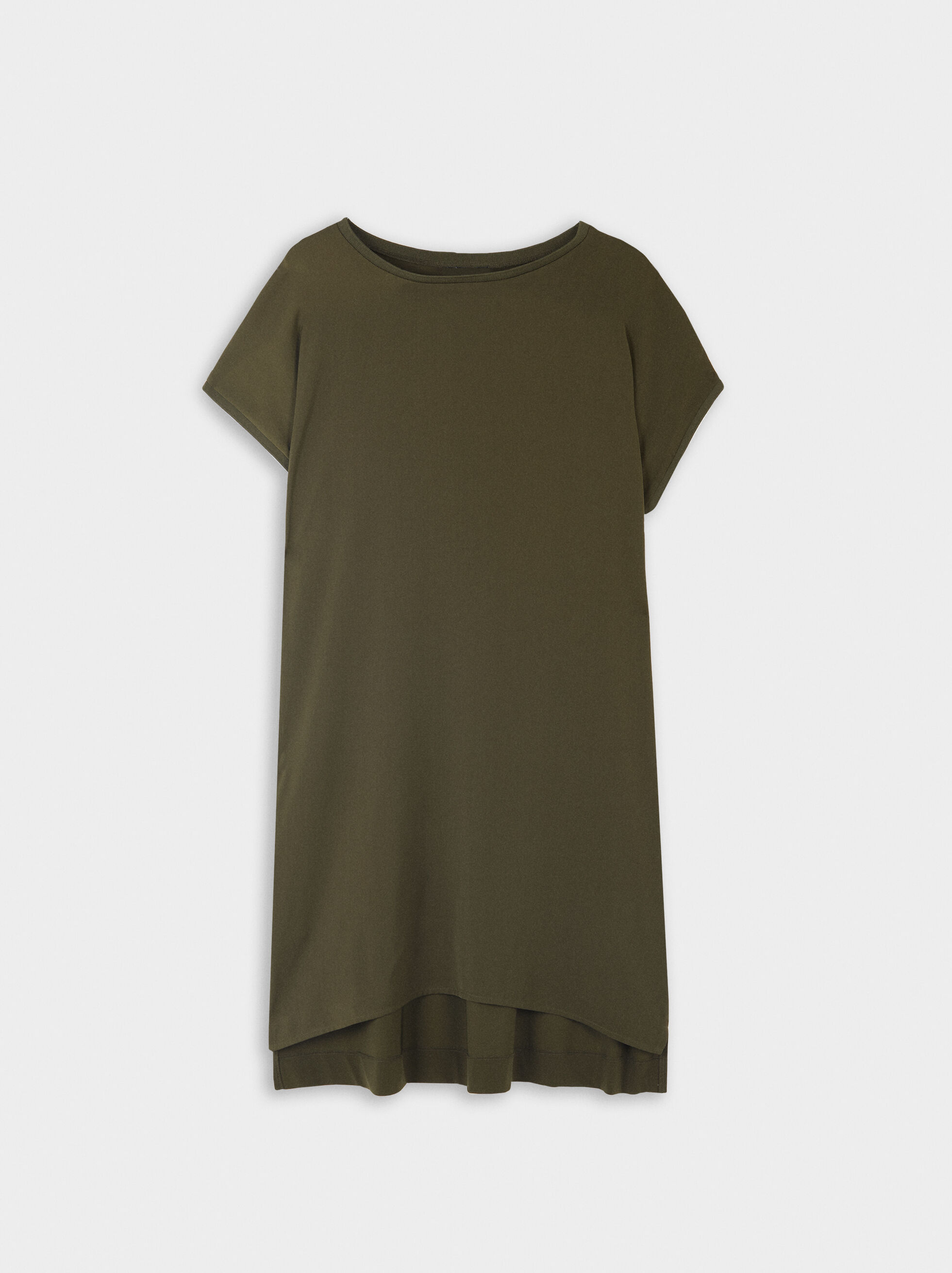 Flowing Dress With Pockets, Khaki, hi-res