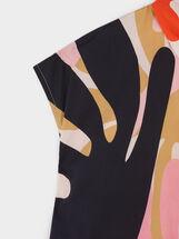 Camisa Con Bolsillo Estampado Multicolor, Rojo, hi-res