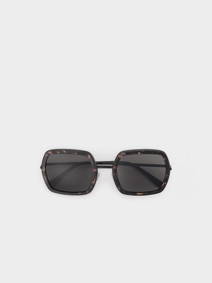 Gafas De Sol Cuadradas, Marrón, hi-res