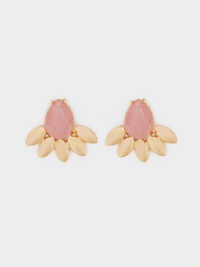 Petrified Earrings, Pink, hi-res
