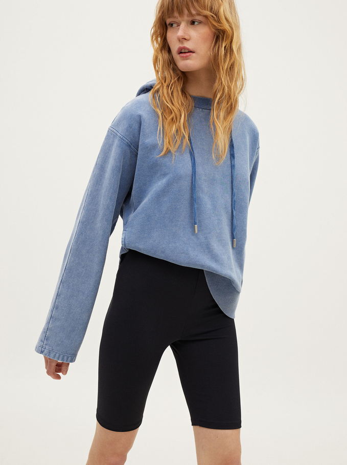 Shorts With Shiny Details, Black, hi-res