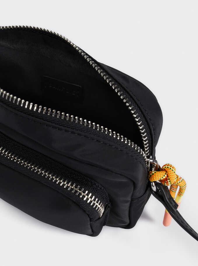 Nylon Crossbody Bag , Black, hi-res
