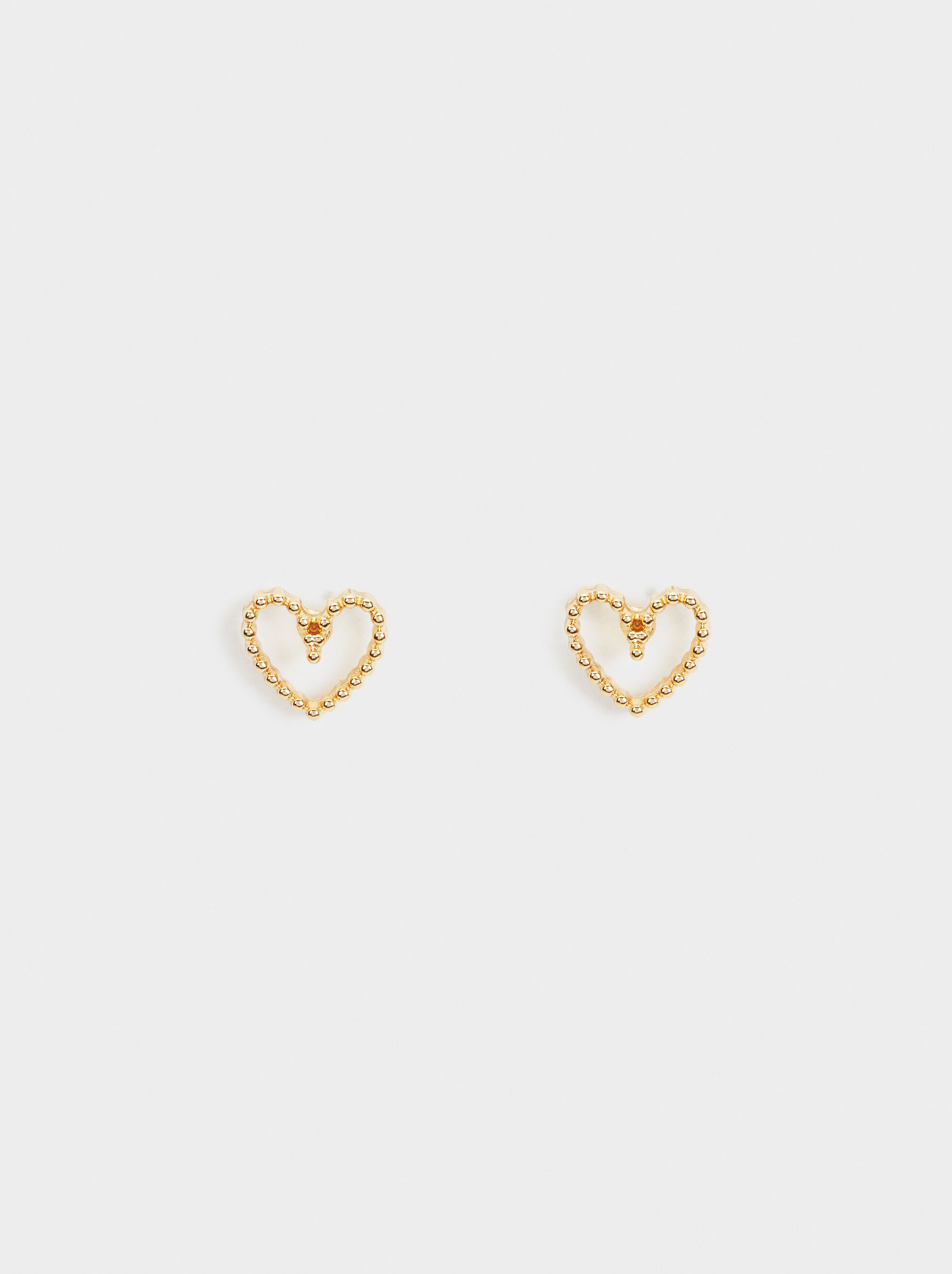 Short Heart Earrings, , hi-res