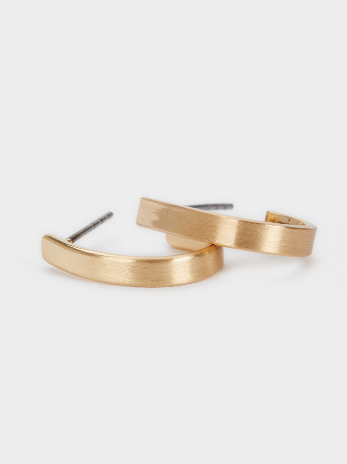 Small Gold Hoop Earrings, Golden, hi-res