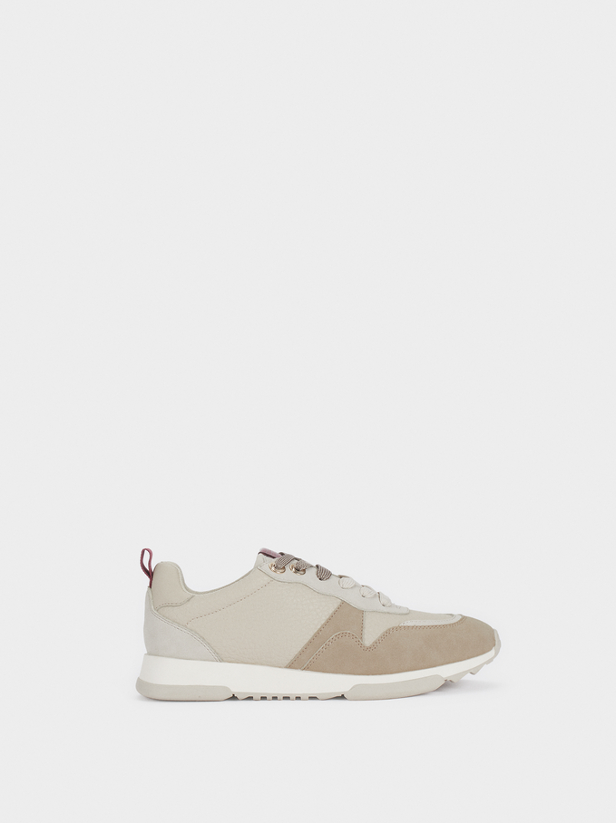 Trainers With Matching Colours , Beige, hi-res