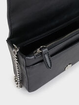 Wavy Cross Bag, Black, hi-res