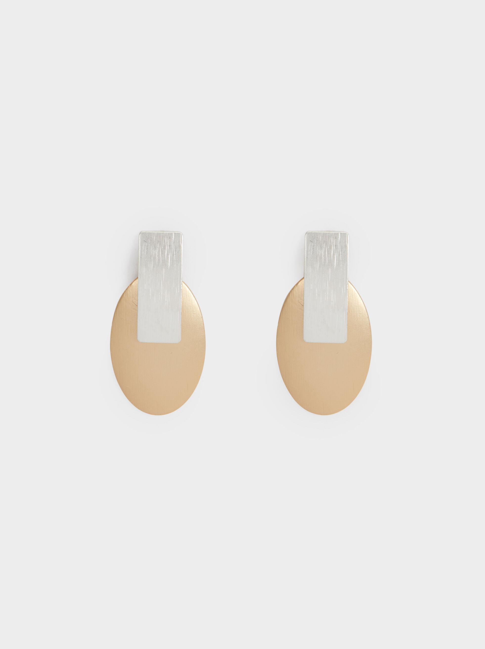 Medium Two-Tone Earrings, , hi-res