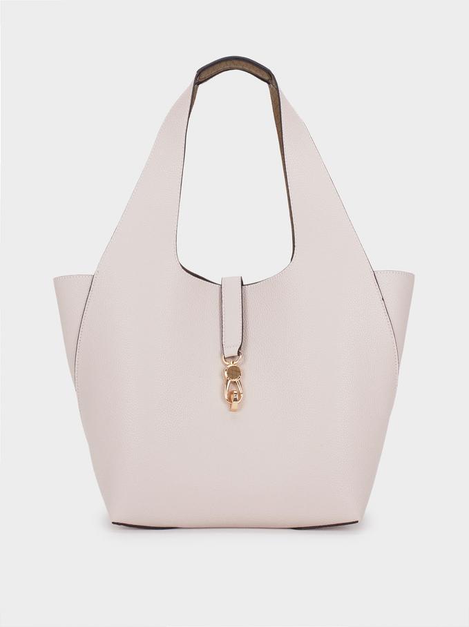 Reversible Handbag, Ecru, hi-res