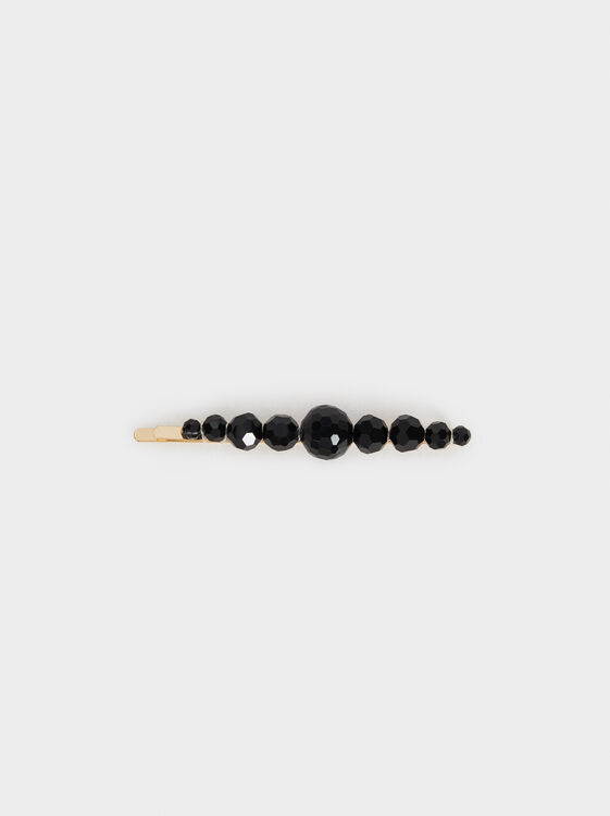 Rhinestone Hairslide, Black, hi-res