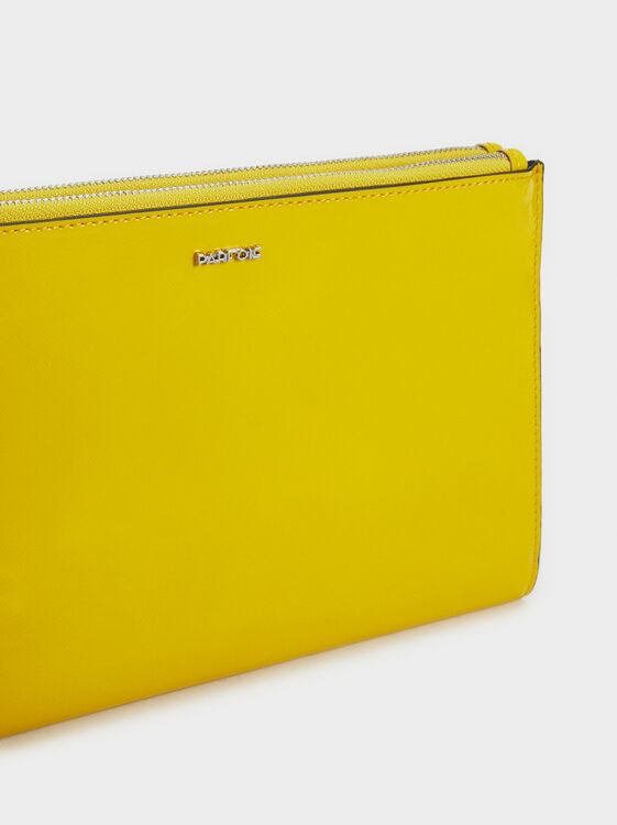 Patent Finish Multi-Purpose Handbag, Yellow, hi-res