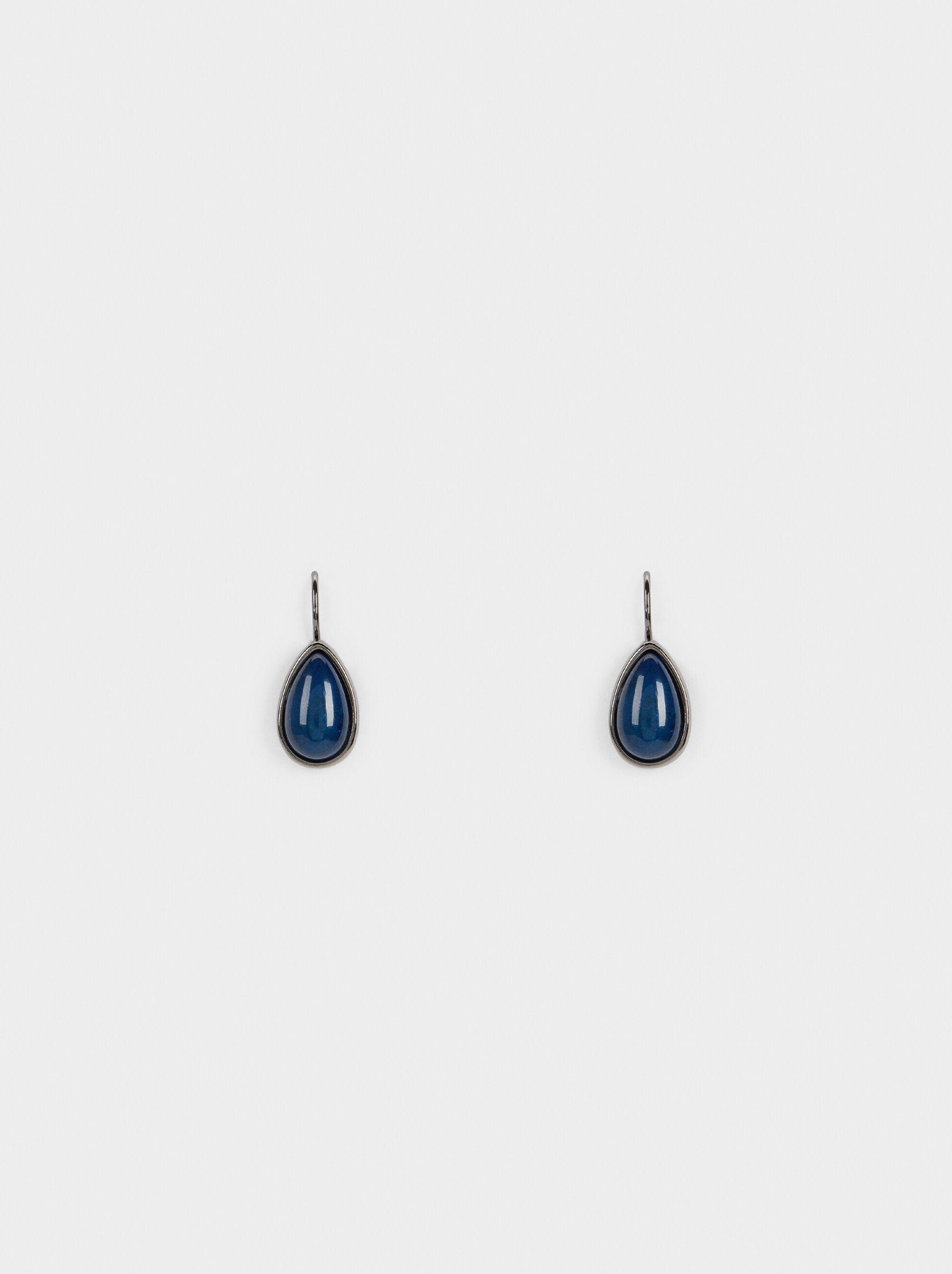 Savage Sparkle Short Earrings, Blue, hi-res
