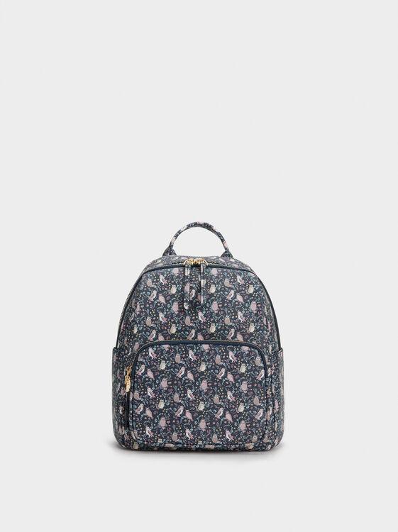 Owl Print Backpack, , hi-res
