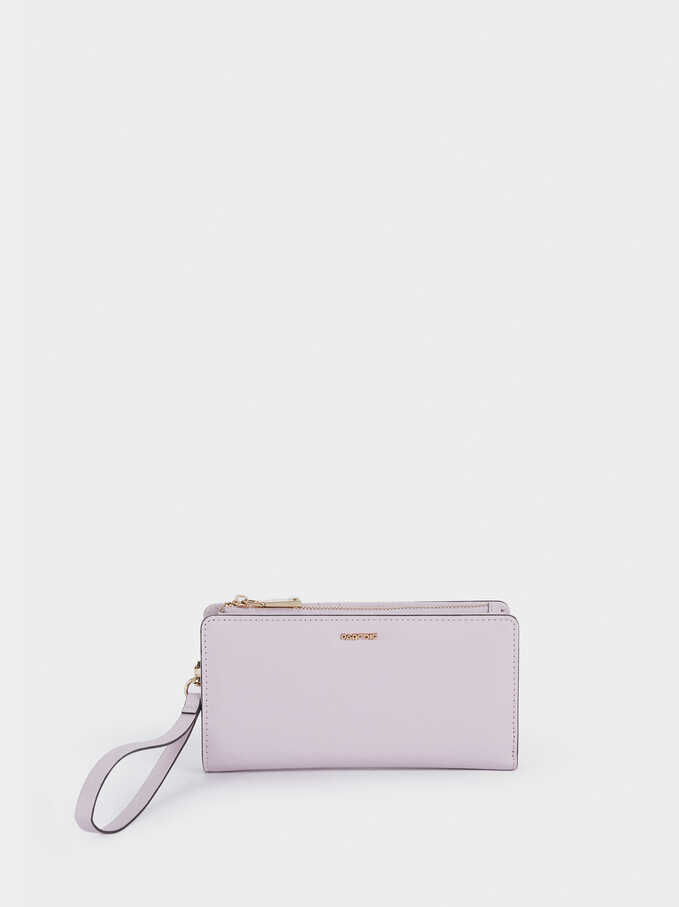 Plain Long Wallet, Violet, hi-res