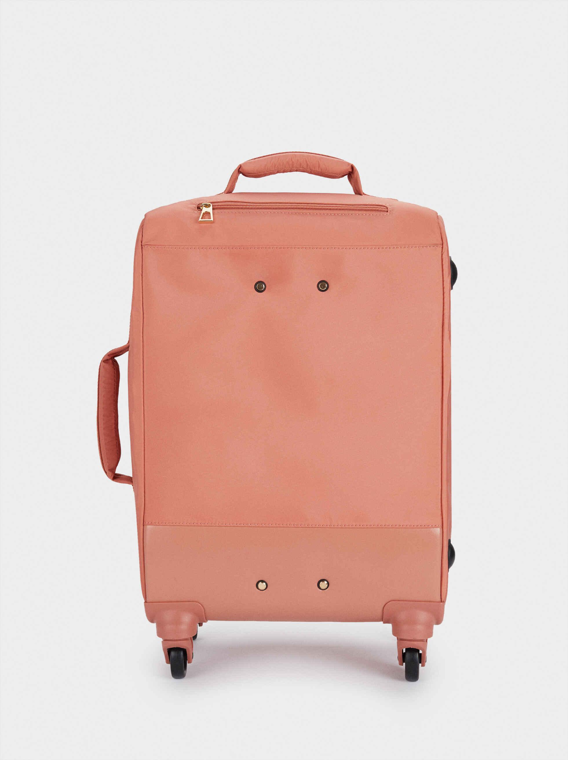 Nylon Suitcase, Coral, hi-res