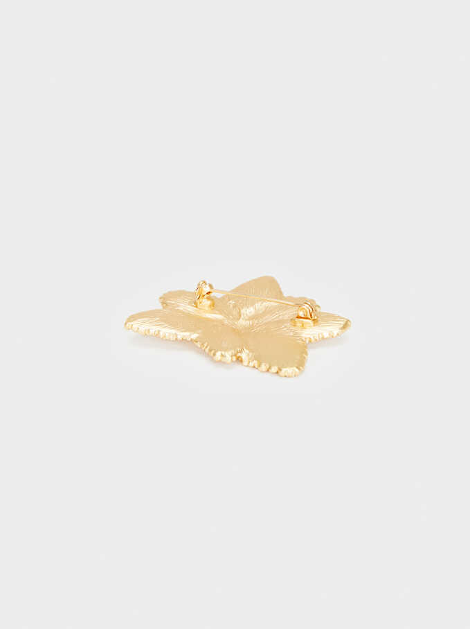 Exclusive Collection Brooch, Golden, hi-res