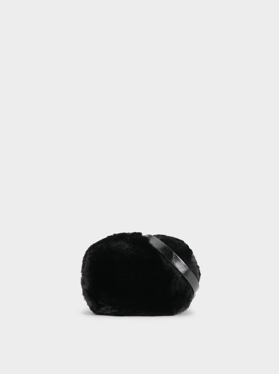 Fur Crossbody Bag , , hi-res