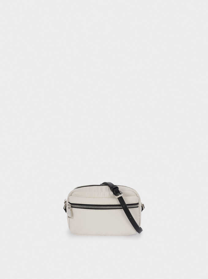 Nylon Crossbody Bag , White, hi-res