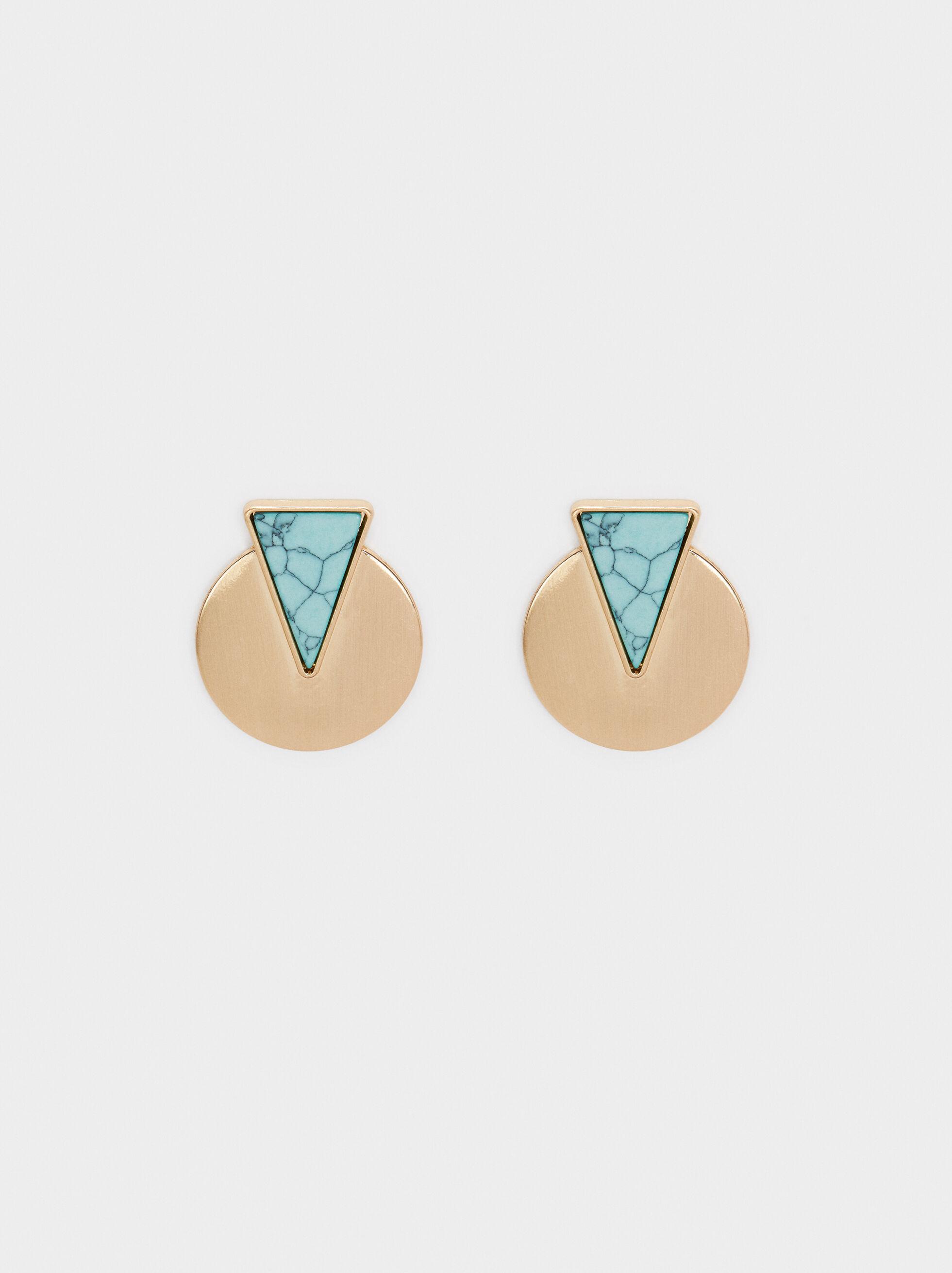 Recife Round Stud Earrings , Beige, hi-res