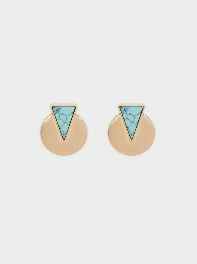 Recife Round Stud Earrings , Beige, hi-res