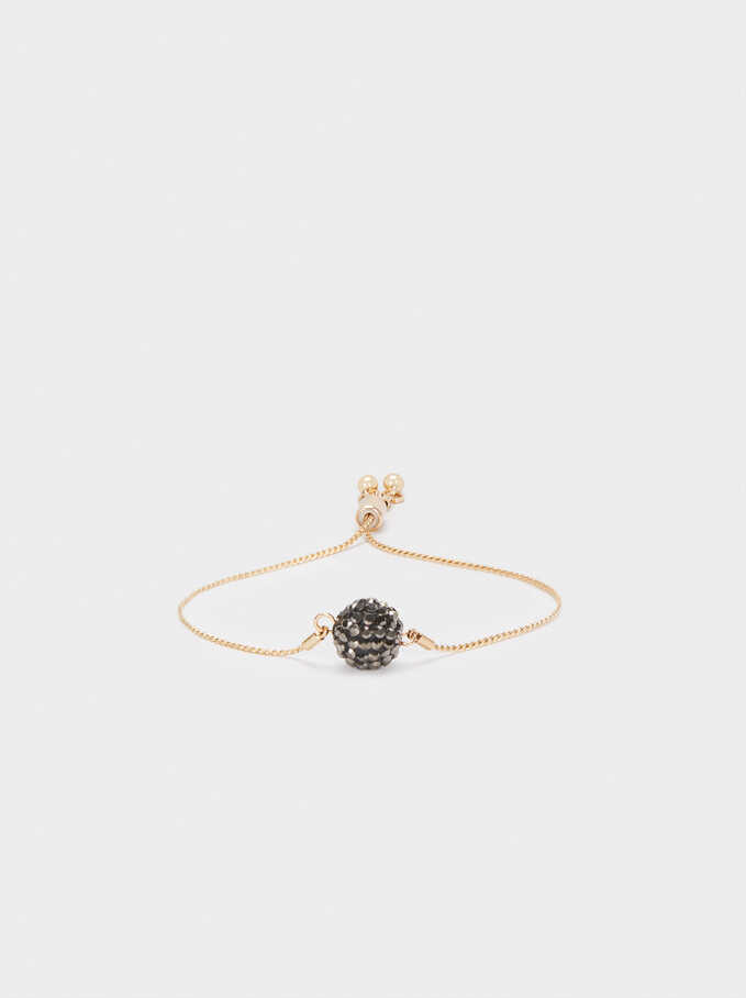 Adjustable Bracelet With Crystals, Multicolor, hi-res