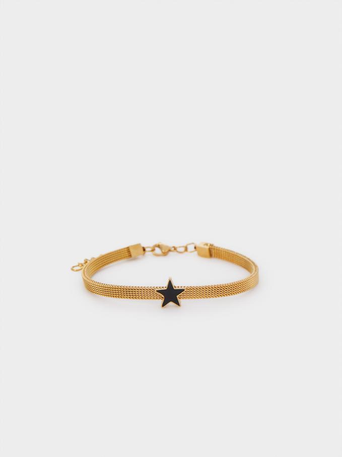 Gold Chain Metal Bracelet, , hi-res