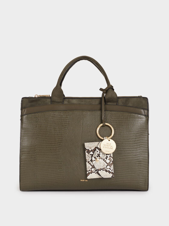Faux Snakeskin Briefcase by Parafois