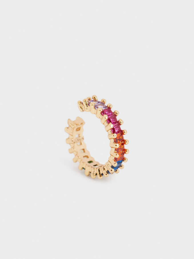 Small Golden Earcuff, Multicolor, hi-res