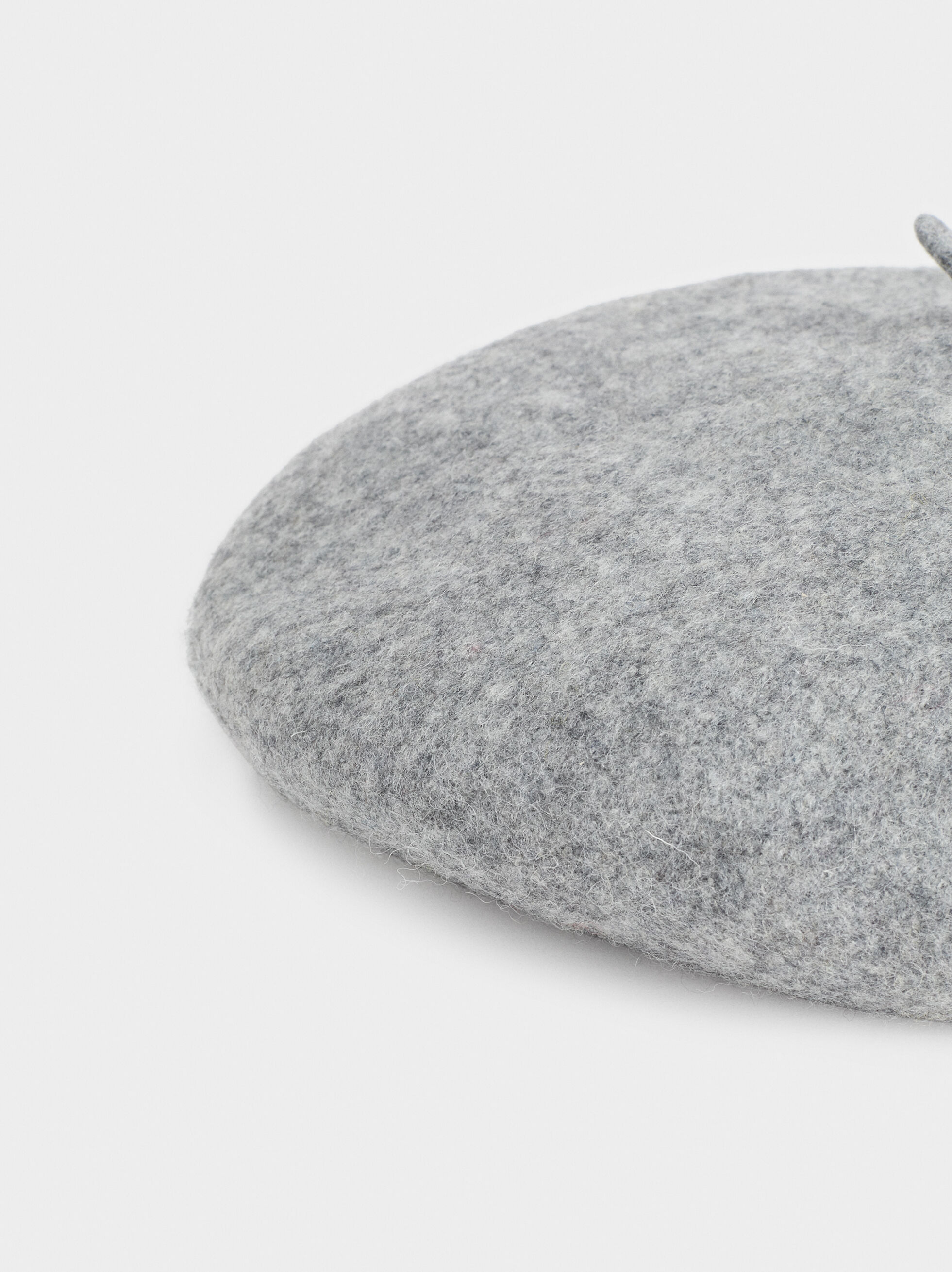 Wool Beret, Grey, hi-res