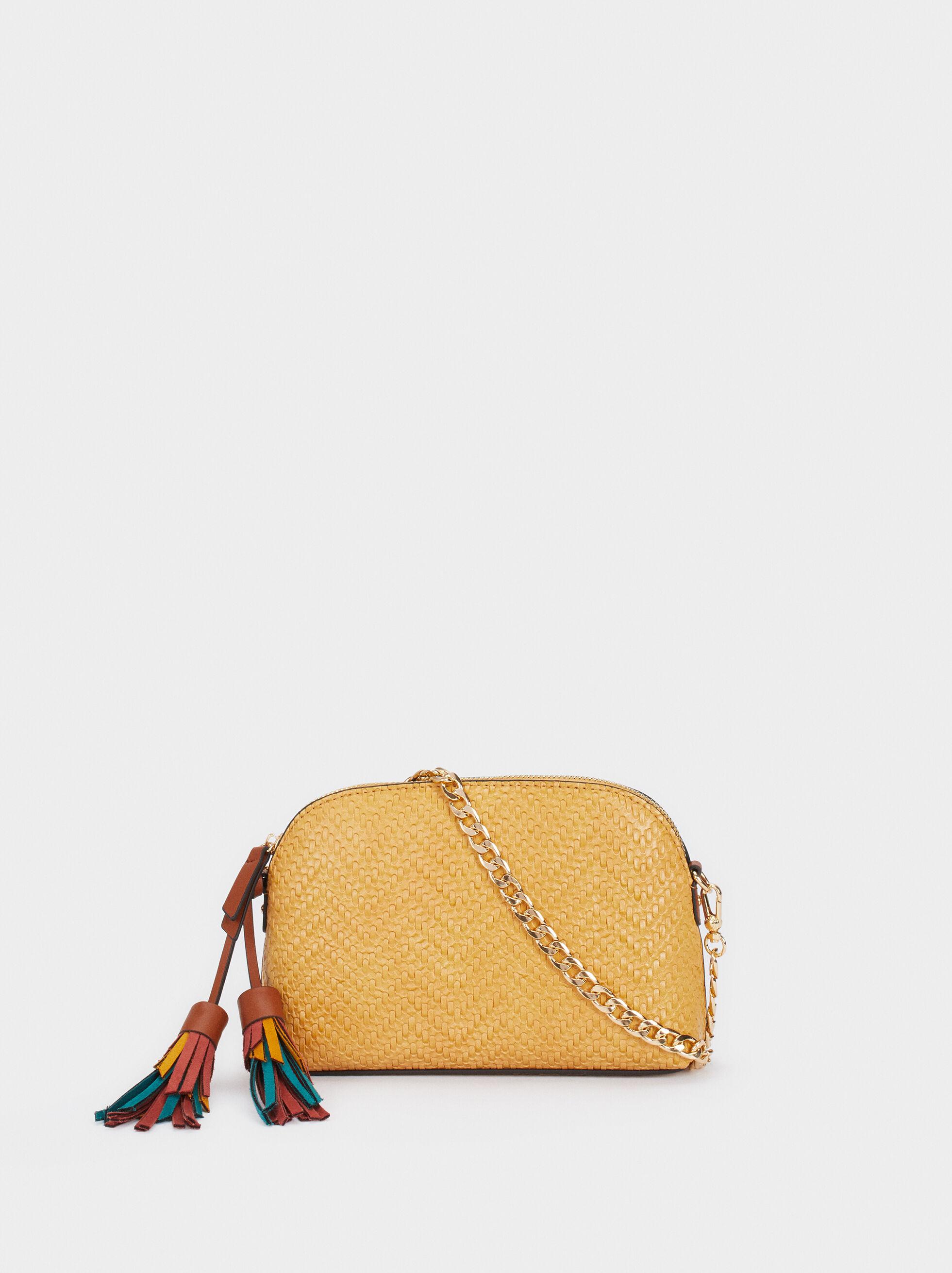 Multicoloured Charm Crossbody Bag, Mustard, hi-res