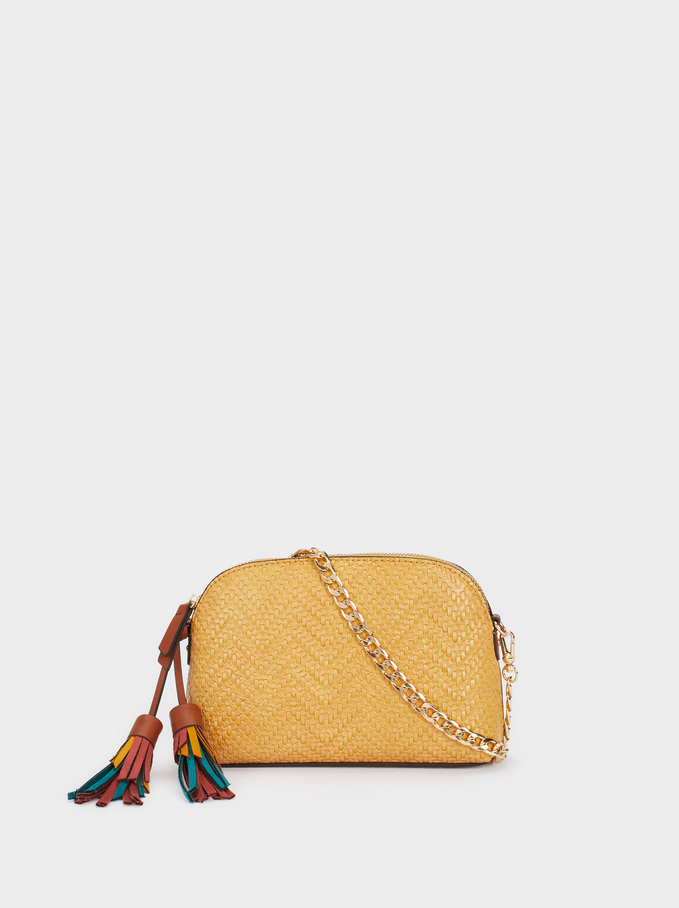 Multicoloured Charm Crossbody Bag, Mustard, hi-res