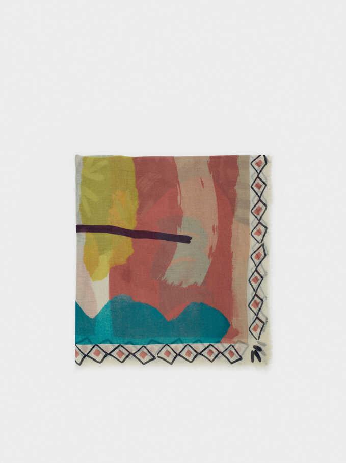 Foulard Imprimé, Multicolore, hi-res