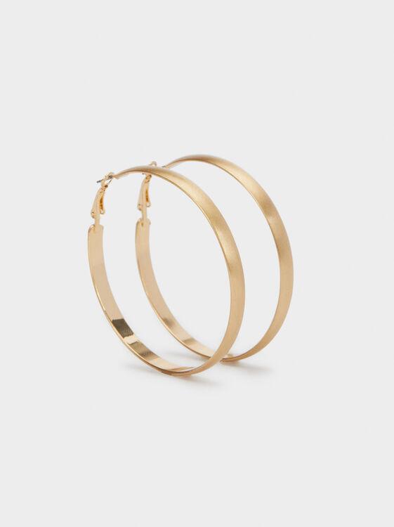 Golden Basics Hoop-Earrings, , hi-res
