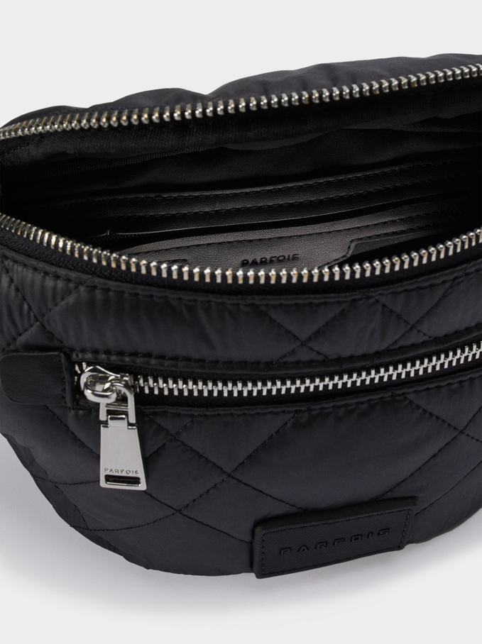 Nylon Crossbody Belt Bag, Black, hi-res