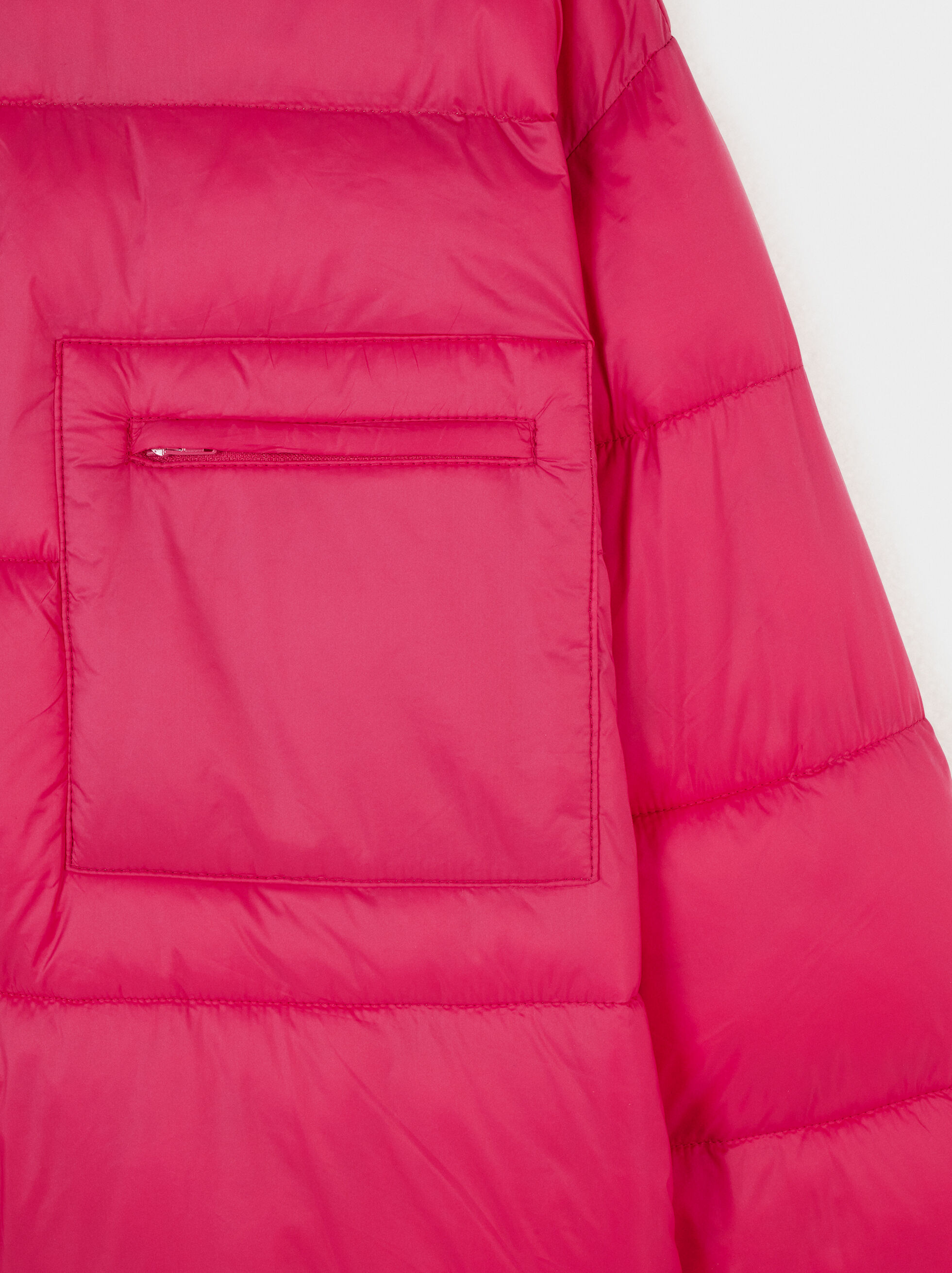Button-Up Quilted Coat, Pink, hi-res