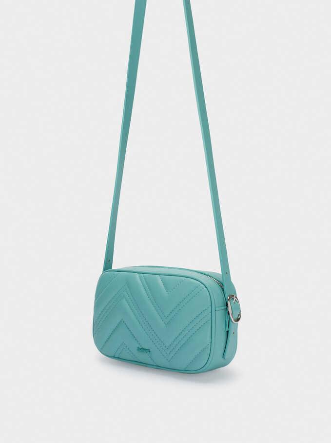 Quilted Crossbody Bag, Blue, hi-res