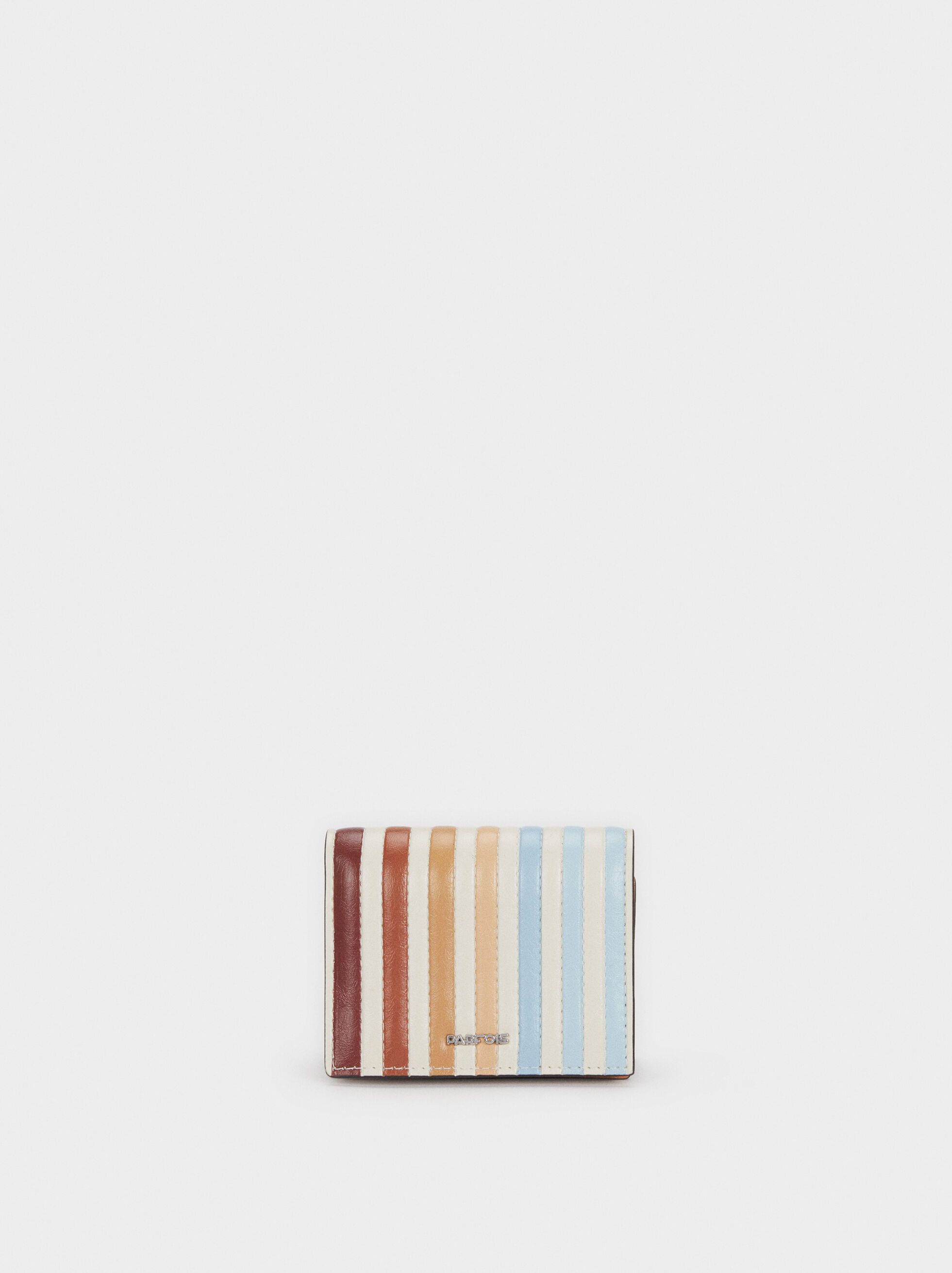 Medium Striped Card Holder, Blue, hi-res