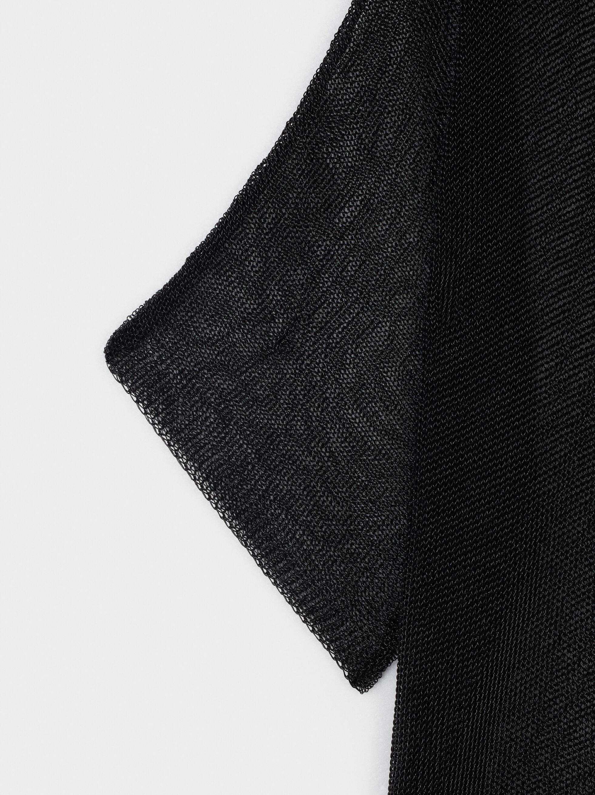 Oversized Knit Sweater, Black, hi-res