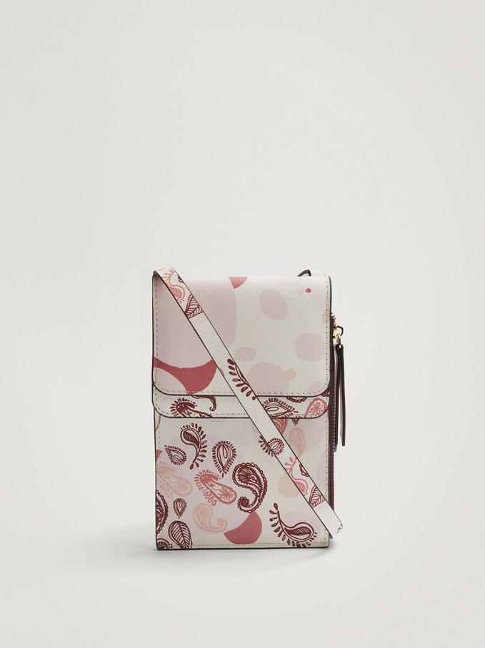 Paisley Print Mobile Phone Case, Pink, hi-res