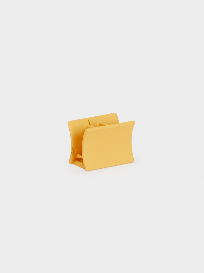 Basic Hair Claw, Mustard, hi-res