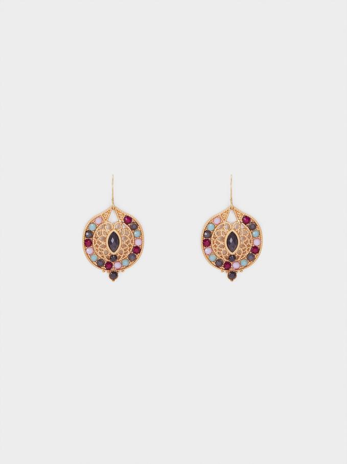 Watercolor Medium Earrings With Beads, , hi-res