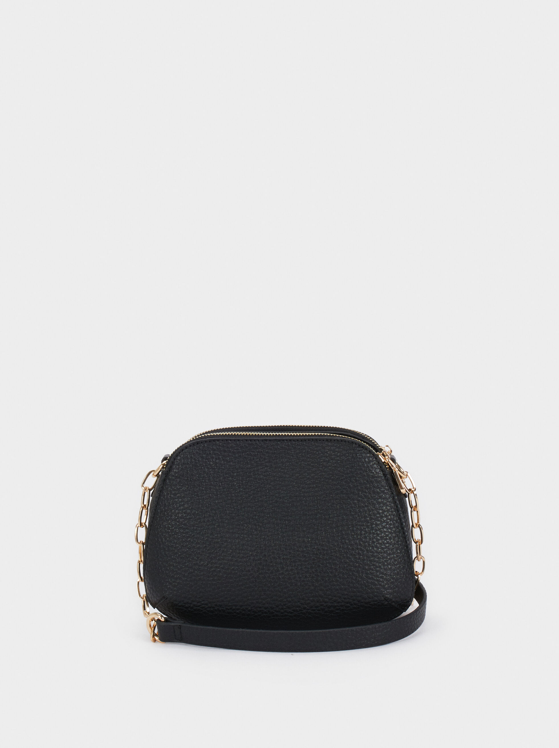 Crossbody Bag With Contrast Strap, Black, hi-res
