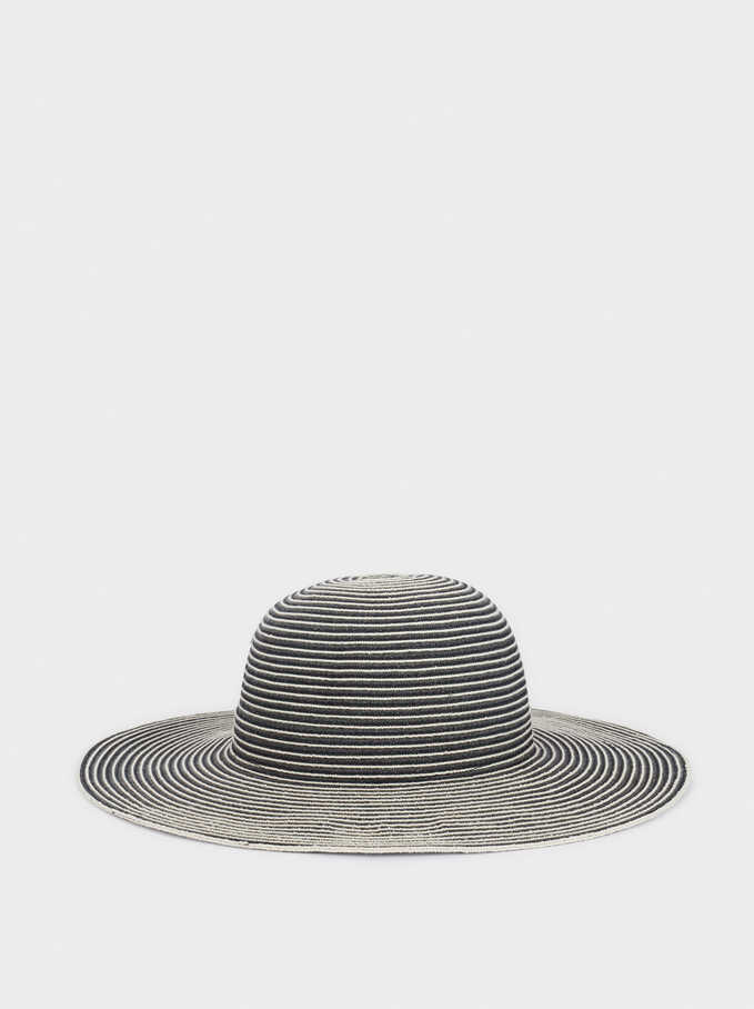 Stripy Hat, Grey, hi-res