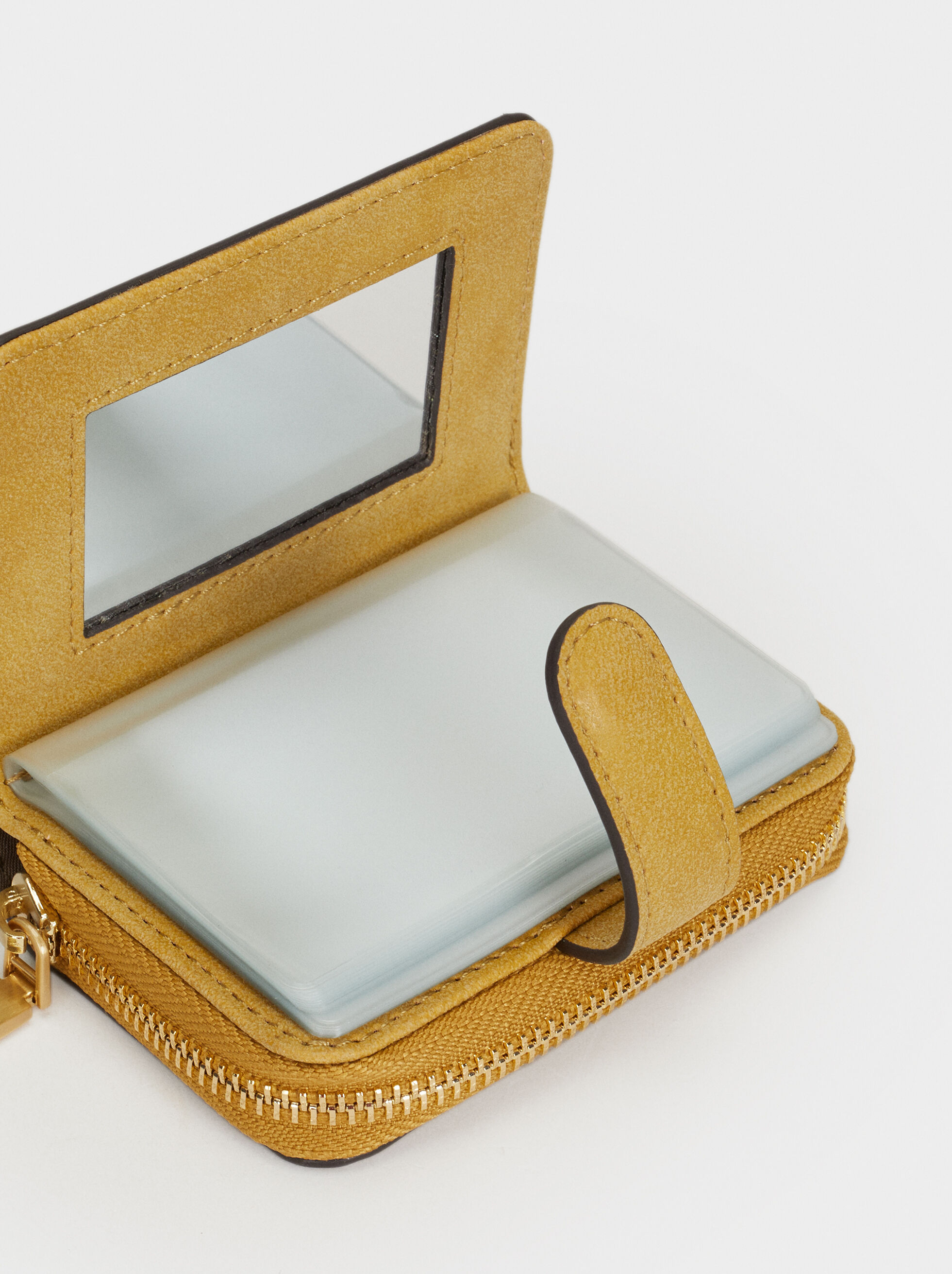 Plain Card Holder, Yellow, hi-res