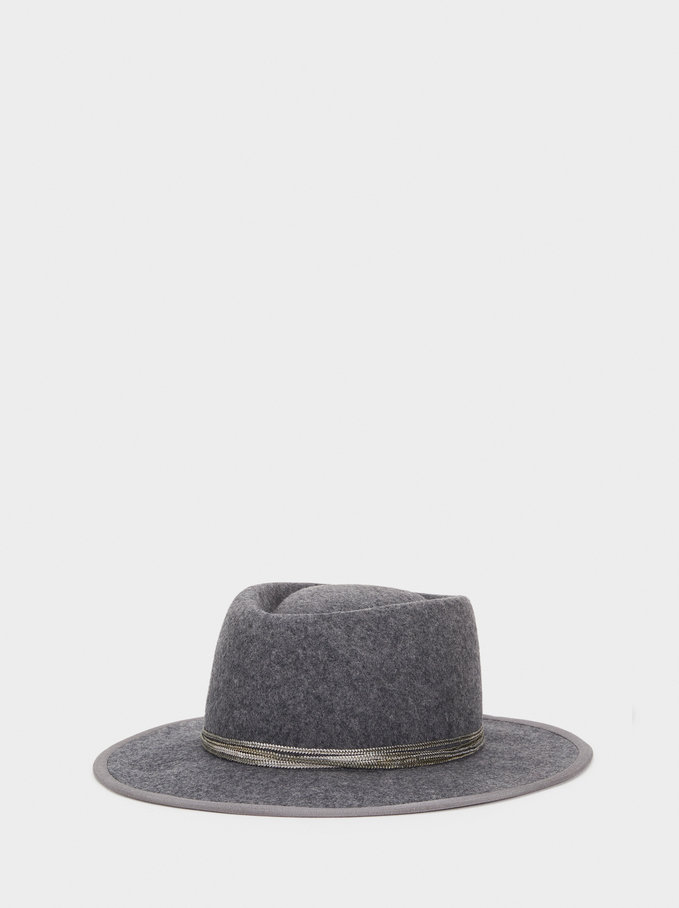 Wool Hat, Grey, hi-res